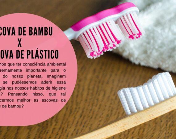 Comparação: Escova de Bambu X Escova de Plástico