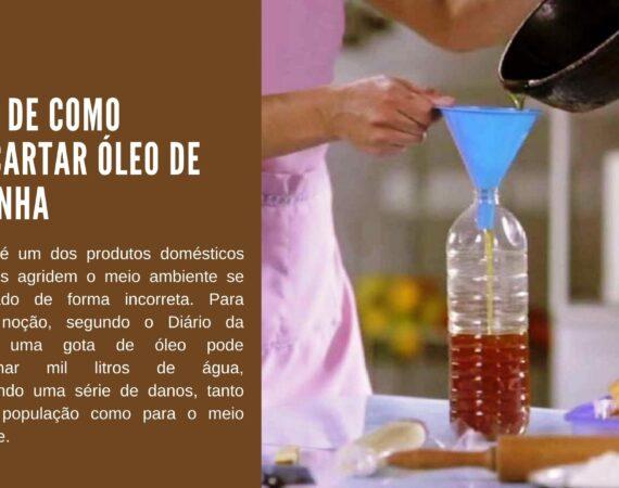 Dica de como descartar óleo de cozinha